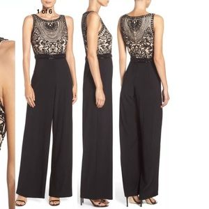 New Adrianna Papell Embellished jersey jumpsuit